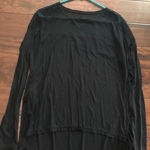 BCBG black long sleeve with lace detailing